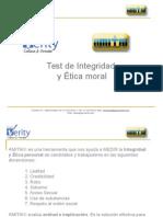 Test de integridad y ética moral