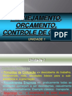 UNID 01-Planejamento, Programação e Controle