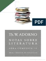 Notas sobre literatura- Adorno