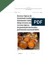 Recetas Típicas de Guatemala - Pepián, Jocón, Kak´ik, Plátanos en Mole