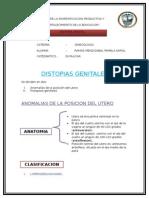 ginecologia distosias genitales