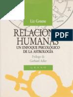 Relaciones Humanas - Liz Greene