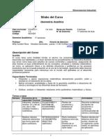 Silabo de Geometría Analítica(Electrotecnia Industrial -2015)