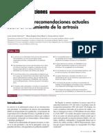 2015 Evidencias y Recomendaciones Actuales Sobre El Tratamiento de La Artrosis