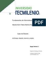 Caso de Estudio Jet Airways - Evidencia 1 - Análisis Del Caso (Trabajo en Equipo)