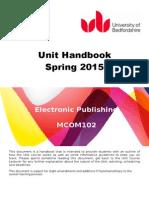 MCOM102 - Handbook - Spring 2015