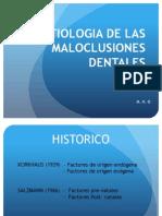 Clase i Modulo -Etiologia de Las Maloclusiones