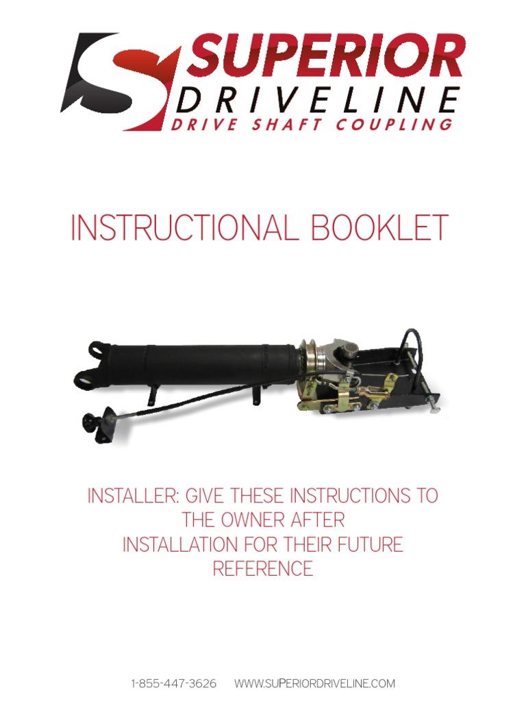 REMCO DSC Instructional Booklet | Manual Transmission | Transmission