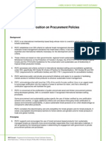 PEFC Position on Procurement Policies