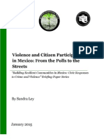 Violence and Citizen Participation in Mexico