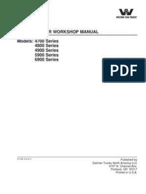 Western Star Workshop Manual Screw Mechanical Engineering