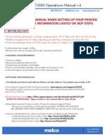 Melco F2000 Operations Manual v.4
