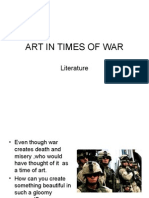 ART IN TIMES OF WAR