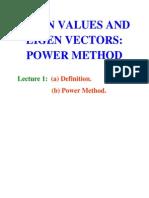 Eigen Values and Eigen Vectors Using Power Method