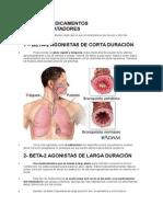 Tipos de MezaSQSdicamentos Broncodilatadores