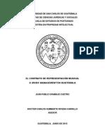 El contrato de representación musical o music management en Guatemala