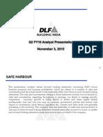 Q2 FY16 Analyst Presentation [Company Update]