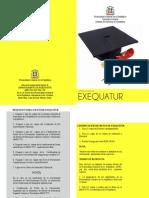 Brochure Exequatur