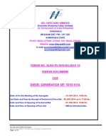 Original Tender Doc Nit 18 Mar 2014 Dg Set 1010 Kva 14-15