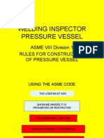 Welding Inspection Pressure Vessel