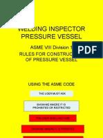 Welding Inspection Pressure Vessel