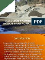 seleccion y control en ARIDOS para hormigon