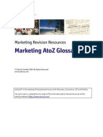 Marketing Glossary for interview