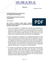 Format for quarterly holding pattern, disclosure norms for corporate governance report and manner for compliance with two-way fungibility of Indian Depository Receipts (IDRs)