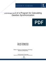 Development of a Program for Calculating Gearbox Synchronization