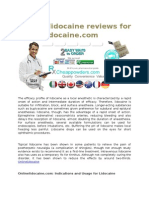 On Line Lidocaine Reviews for Onlinelidocaine.com