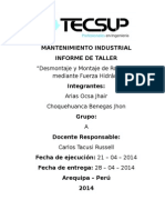 Tarea 5 - Informe Mantenimiento Industrial