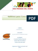 Infor. de Aditivos Para Concreto