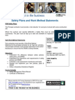 Safety Plans and Work Method Statements