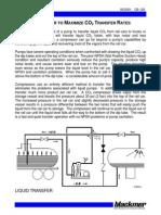 CO2 Transfer Rate Optimization