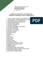 Subiecte Anatomie - Sistemul Nervos Central Si Analizatorii