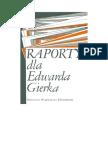 Bożyk, Paweł - Raporty Dla Gierka – 1988 (Zorg)