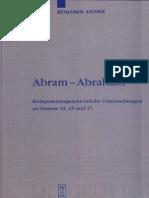 Benjamin Ziemer Abram-Abraham Kompositionsgeschichtliche Untersuchungen zu Genesis 14, 15 und 17 Beihefte zur Zeitschrift für die Alttestamentliche Wissenschaft 2.pdf