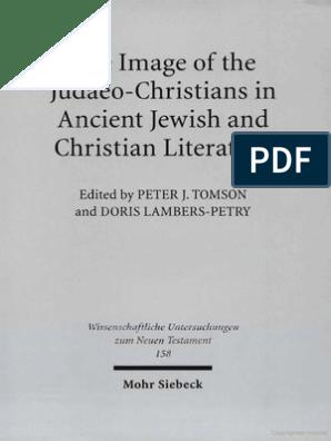 Peter J Tomson Doris Lambers Petry Image Of The Judaeo