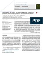 Understanding the effect of knowledge management strategies on knowledge management performance A contingency perspective