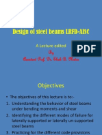 Design of Steel Beams to AISC- LRFD