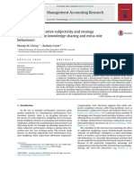 The Effects of Incentive Subjectivity and Strategy Communication on Knowledge-sharing and Extra-role Behaviours