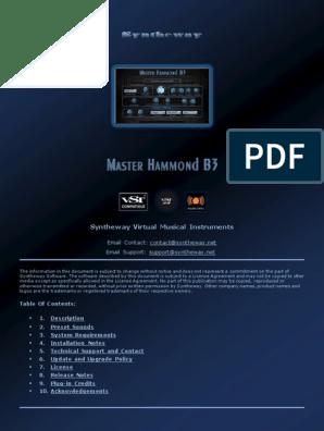 Virtual Hammond B3 Organ VST VST3 Audio Unit Plugins plus
