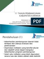 Profil Pembangunan Kabupaten Karimun 2010