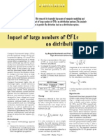 Impact of large numbers of CFLs  on distribution systems