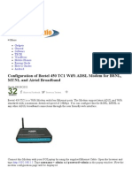 Configuration of Beetel 450 TC1 WiFi ADSL Modem for BSNL, MTNL and Airtel Broadband