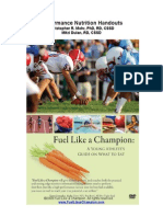 Fuel Like a Champion Sports Nutrition Handouts