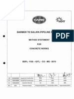 Method Statement for Concrete Works