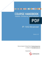 Ceragon - IP10G - Advanced - Course Handbook - V4.2