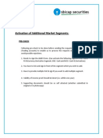 Activation of Additional Market Segment Form