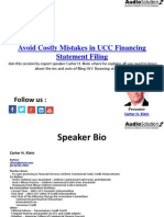 Avoid Costly Mistakes in UCC Financing Statement Filing